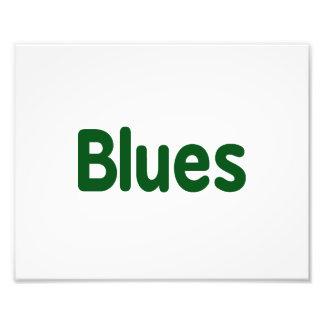 Blues word green music design png photo print