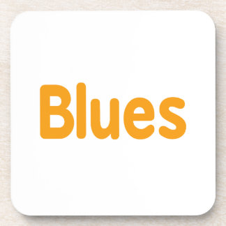 Blues word l orange music design.png coasters
