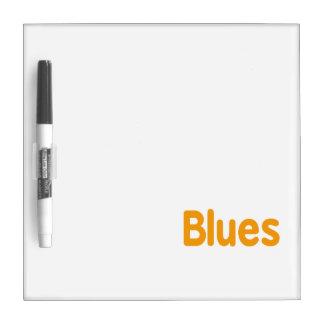 Blues word l orange music design.png dry erase whiteboards