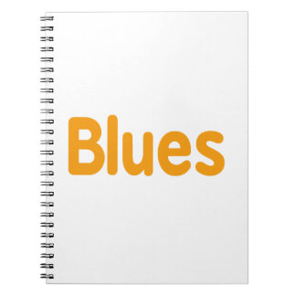 Blues word l orange music design.png notebooks