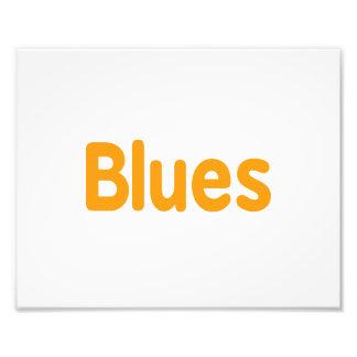 Blues word l orange music design png photo print