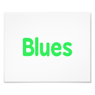 Blues word mint music design png photo