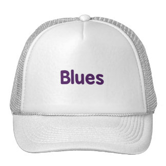 Blues word purple music design.png mesh hat