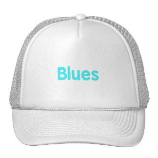 Blues word teal music design.png trucker hats