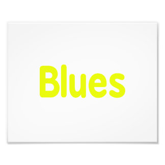 Blues word yellow music design png photo print