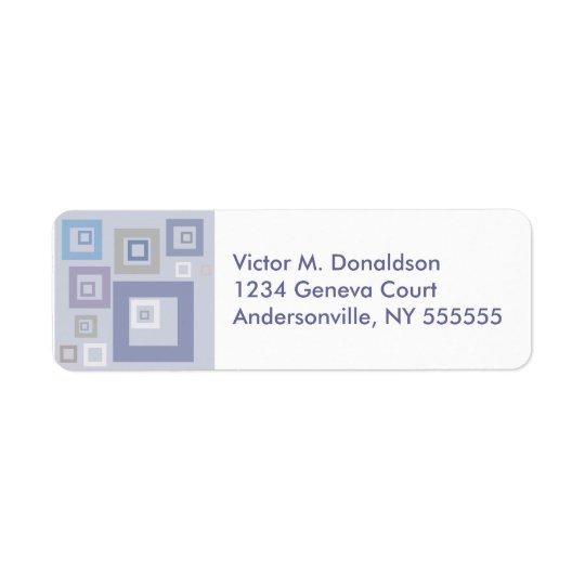 BlueSqaures Personalised Return Address Labels
