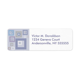 BlueSqaures Personalized Return Address Labels