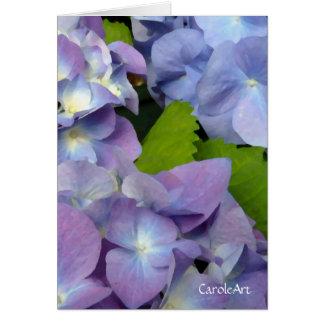 Bluest Blue Hydrangeas Card