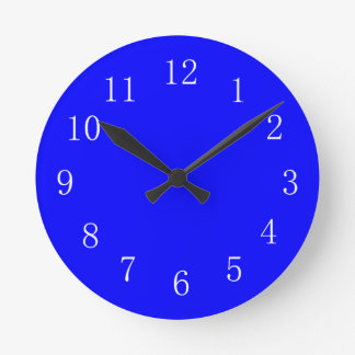 Bluest Blue Kitchen Wall Clock