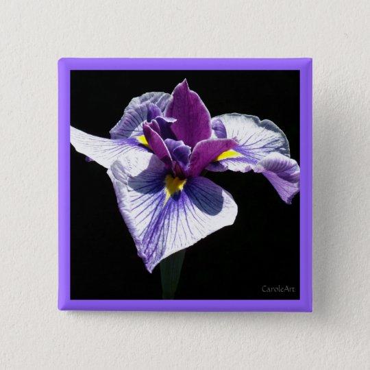 Bluest Purple Iris 15 Cm Square Badge