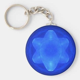 Bluestar Basic Round Button Key Ring