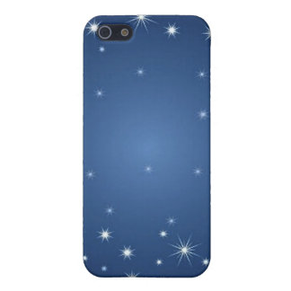 bluestarrybackground cover for iPhone 5