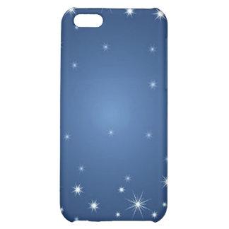 bluestarrybackground iPhone 5C cases