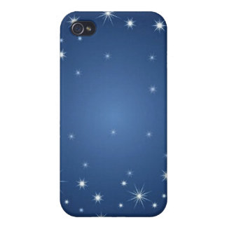 bluestarrybackground iPhone 4 covers