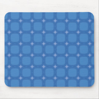 Bluesville Retro Rounded Squares Mouse Mat