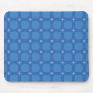 Bluesville Retro Squares Stars Mouse Pads
