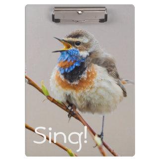 Bluethroat Singing Clipboard