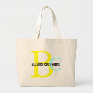 Bluetick Coonhound Breed Monogram Canvas Bags