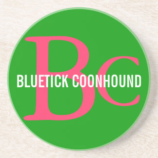 Bluetick Coonhound Breed Monogram Beverage Coaster