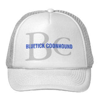 Bluetick Coonhound Breed Monogram Trucker Hats