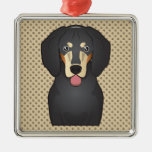 Bluetick Coonhound Cartoon Ornament