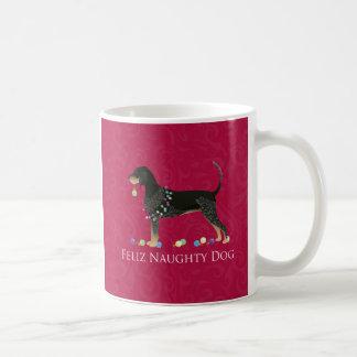 Bluetick Coonhound Christmas Coffee Mug