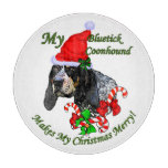 Bluetick Coonhound Christmas Cutting Board