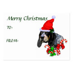 Bluetick Coonhound Christmas Gift Name Tag Business Card Templates