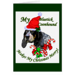 Bluetick Coonhound Christmas Gifts Greeting Card