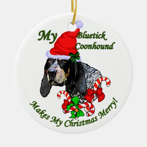 Bluetick Coonhound Christmas Gifts Ornament