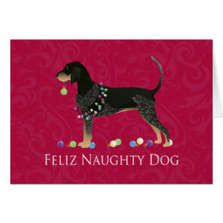 Bluetick Coonhound Christmas Greeting Card