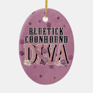 Bluetick Coonhound DIVA Christmas Ornaments