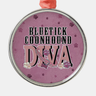 Bluetick Coonhound DIVA Christmas Tree Ornaments