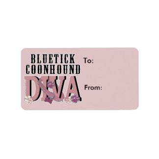 Bluetick Coonhound DIVA Address Label