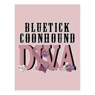 Bluetick Coonhound DIVA Postcard