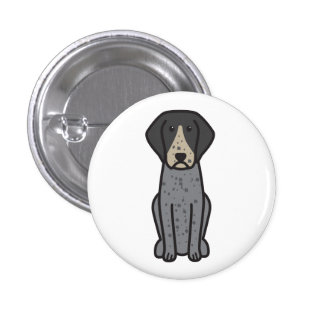 Bluetick Coonhound Dog Cartoon Pinback Button