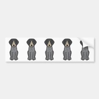 Bluetick Coonhound Dog Cartoon Bumper Sticker