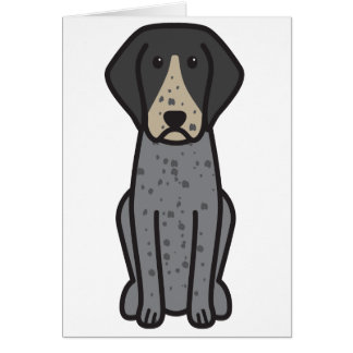 Bluetick Coonhound Dog Cartoon Cards