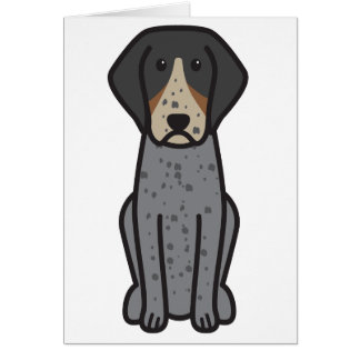 Bluetick Coonhound Dog Cartoon Greeting Card