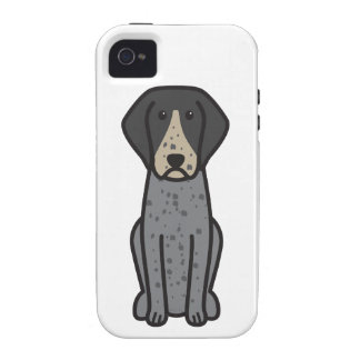 Bluetick Coonhound Dog Cartoon iPhone 4/4S Case