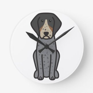 Bluetick Coonhound Dog Cartoon Clocks