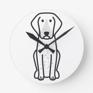 Bluetick Coonhound Dog Cartoon Wall Clocks