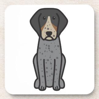 Bluetick Coonhound Dog Cartoon Beverage Coaster