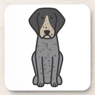 Bluetick Coonhound Dog Cartoon Coasters