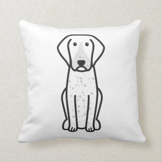 Bluetick Coonhound Dog Cartoon Throw Pillows