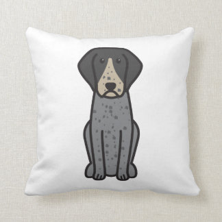 Bluetick Coonhound Dog Cartoon Pillow