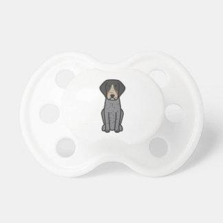 Bluetick Coonhound Dog Cartoon Pacifier