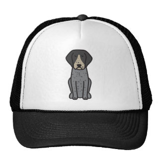 Bluetick Coonhound Dog Cartoon Trucker Hats