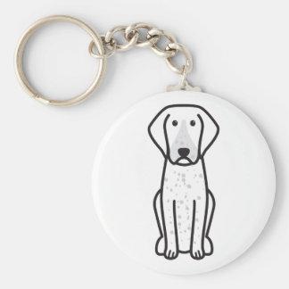 Bluetick Coonhound Dog Cartoon Keychains