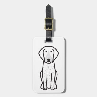 Bluetick Coonhound Dog Cartoon Tag For Bags